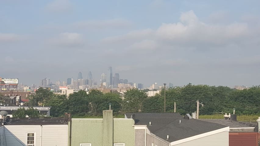 View of Downtown Philly from roof deck