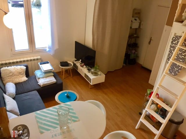 Studio cosy centre ville, place de parking et cour - Bordeaux - Wohnung