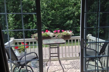 Cozy home with woods and pond view - Canton - Townhouse