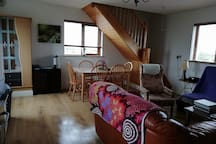 Open plan living/dining area