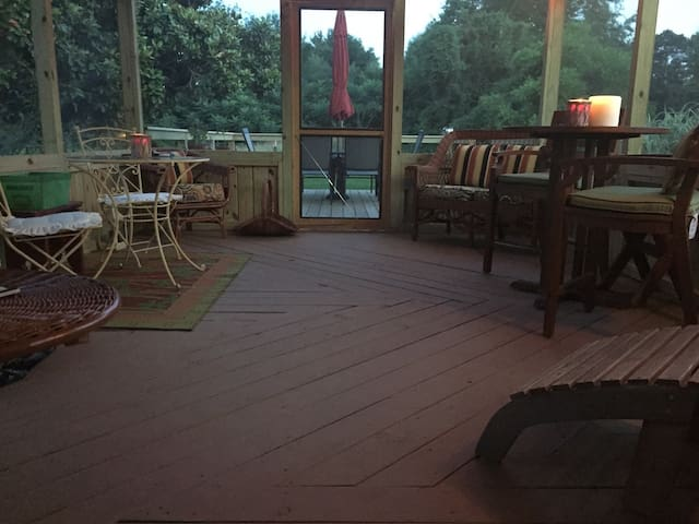 Quiet and relaxing back porch!