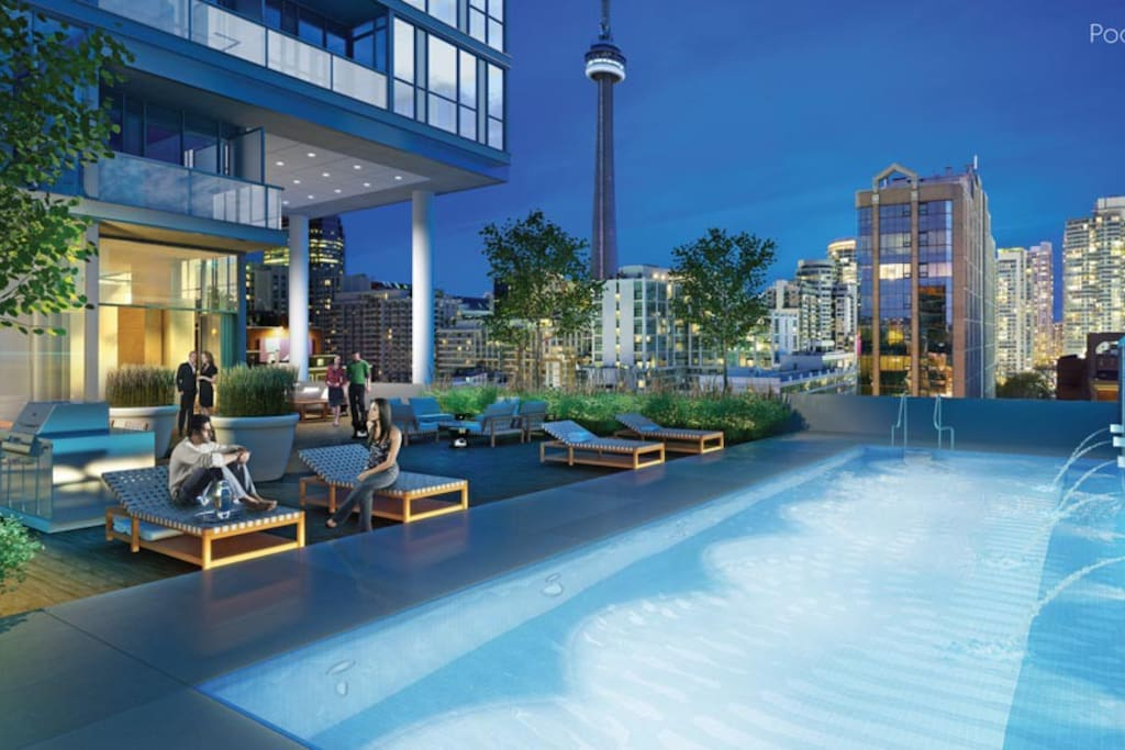 Pool Lounge with a view