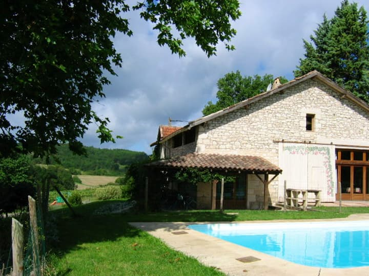 Villa with 6 bedrooms in Saint Paul Flaugnac, with private pool, enclosed garden and WiFi