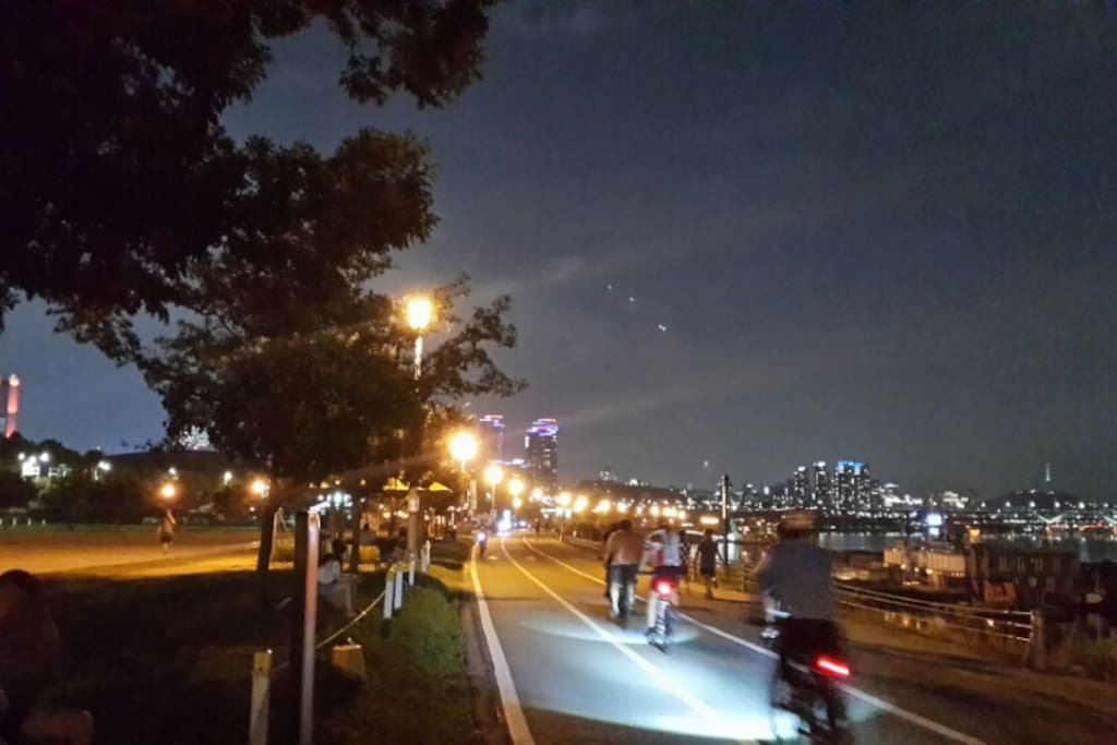 walking distance to Han river park.