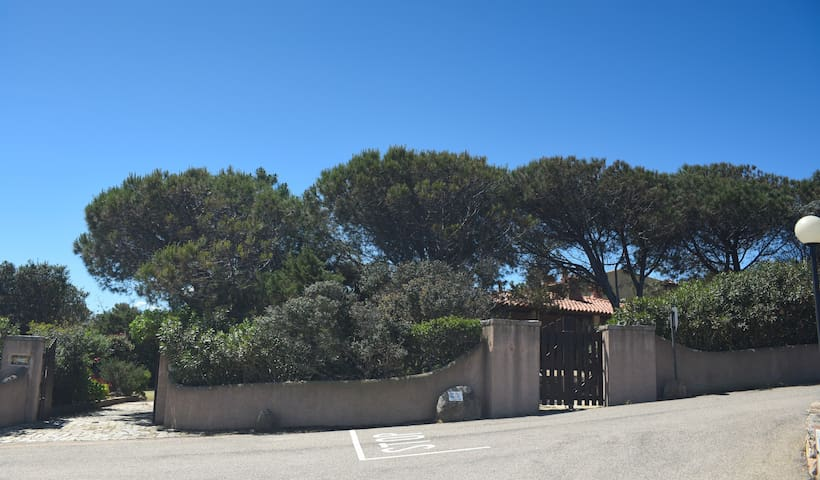 Entrance to the street where the villa is located