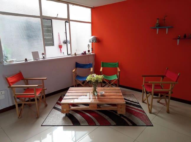 Nice and sunny room with bathroom. Chapinero