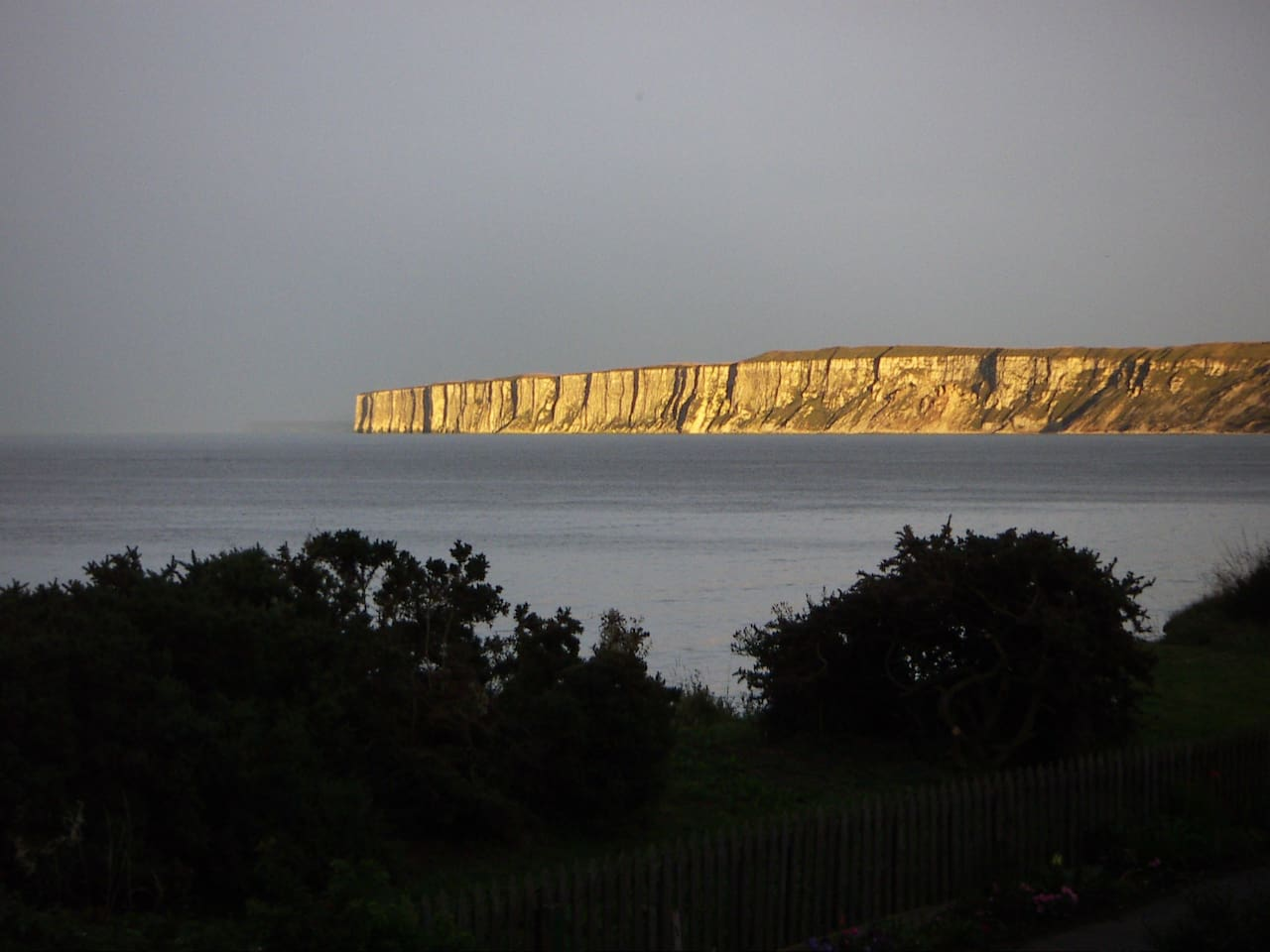 Brooding Bempton cliffs in the evening light