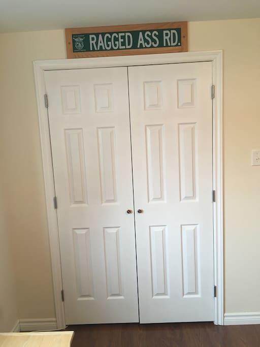 Spacious double closet