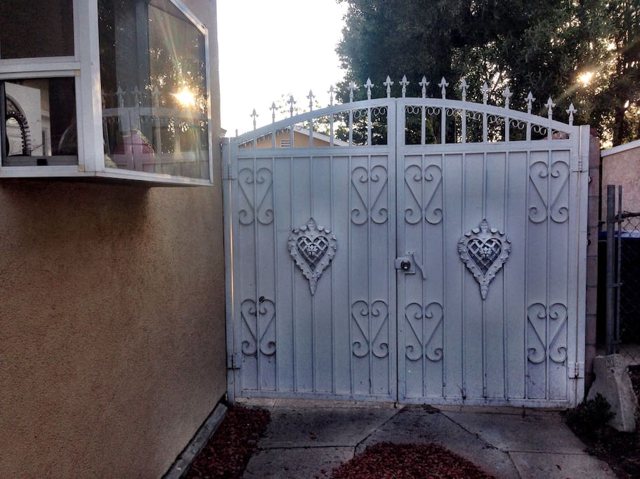 Open gate to your private entry and completely enclosed backyard.
