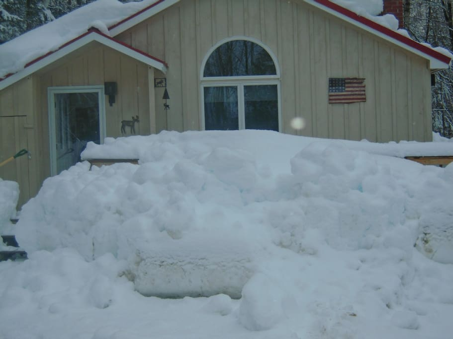 View from driveway in winter
