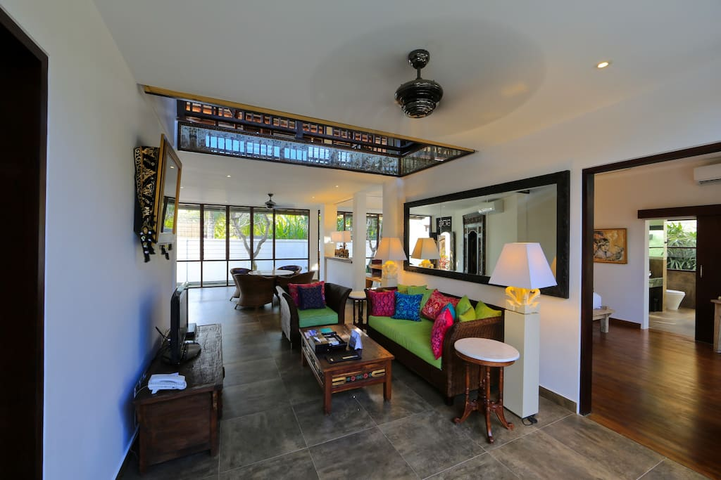 Colourful Living Room with Balinese Antique Furniture