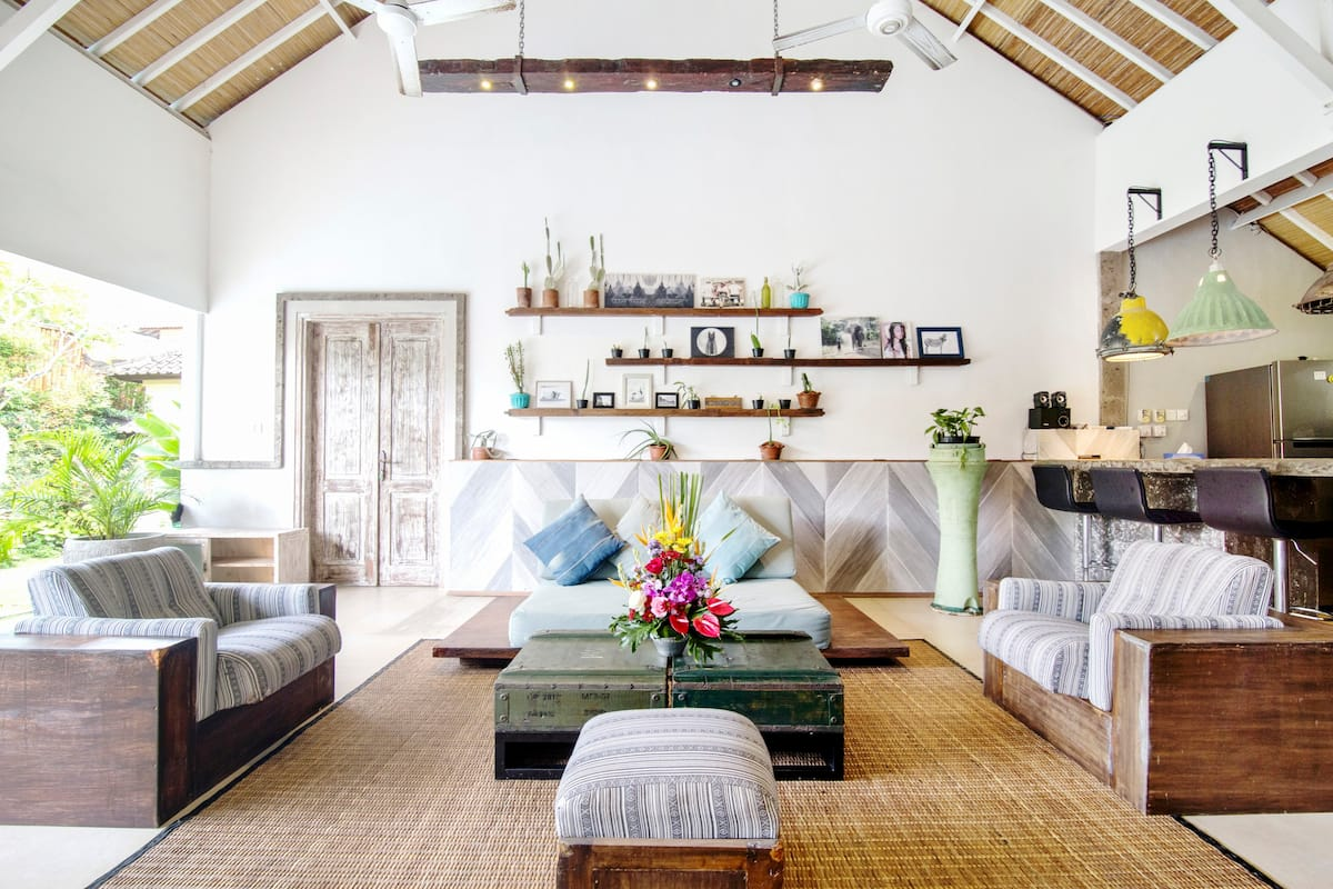Stroll to Potato Head from a Tranquil Balinese Villa