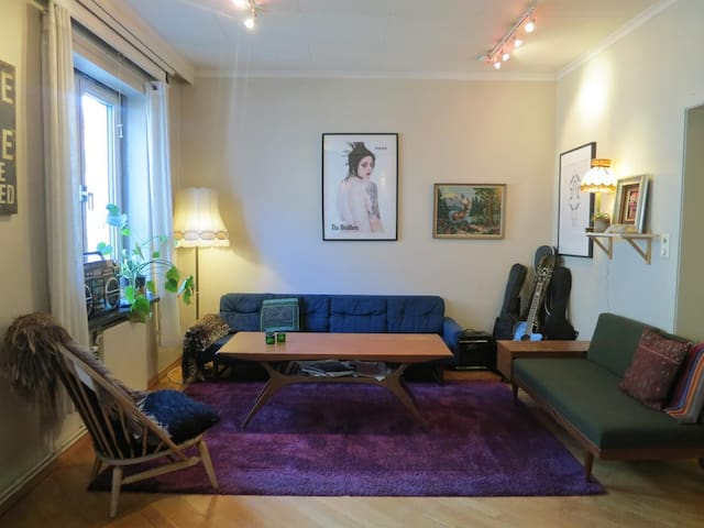 Central room in cozy apartment - Oslo