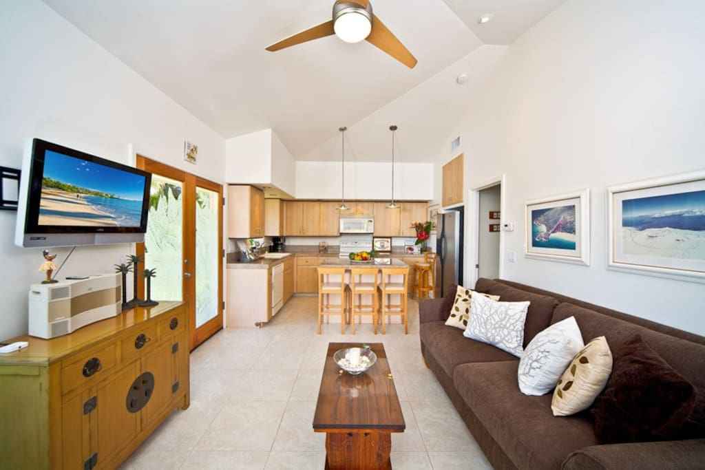 Living Room with Flat Panel Television