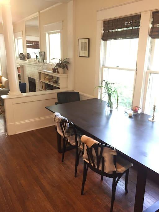 Open Floor Plan Dining Room