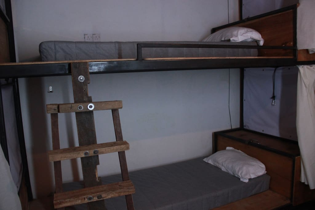 The beds.