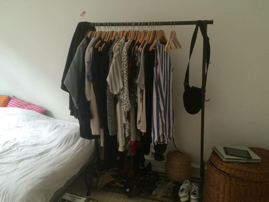 the room - clothes rack