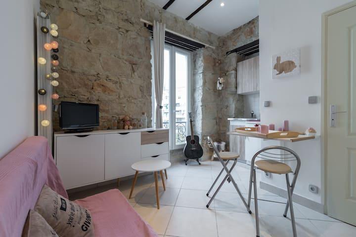 Cosy studio, 200m sea & Promenade des Anglais !