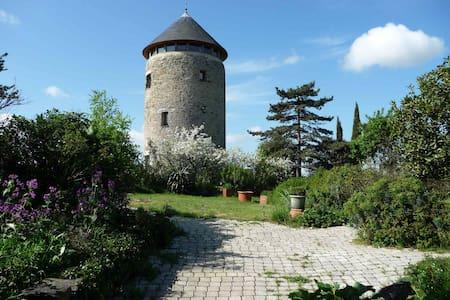 tour d'un moulin à vent,  vue époustouflante - Rochefort-sur-Loire - บ้าน