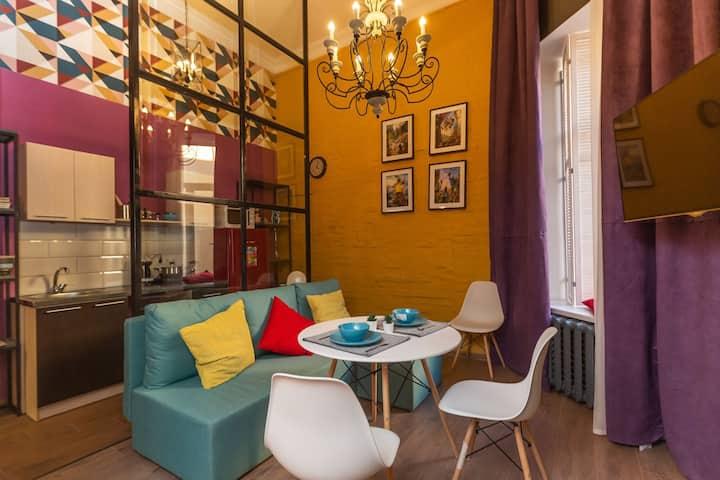 Супер стильная просторная квартира с 2 спальнями
