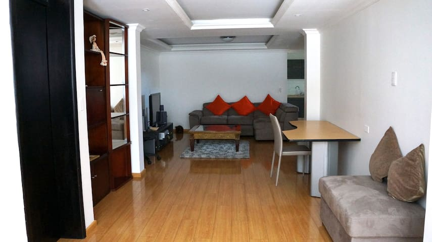 Large Private 2 BDR apartment in downtown Quito