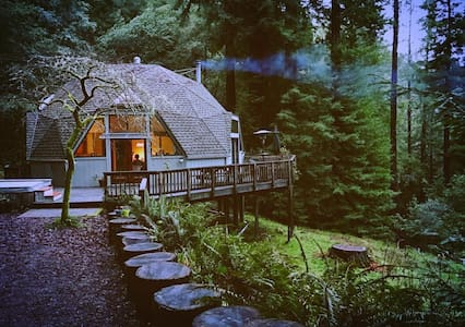 Spacious Redwood Dome Retreat in the Forest - Cazadero - Talo