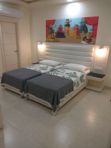 Twin beds which can also be joined as shown in another picture