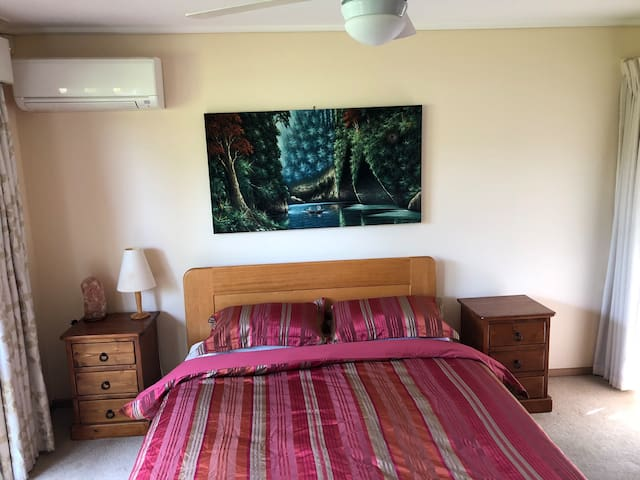 Pleasant room, ensuite and living room