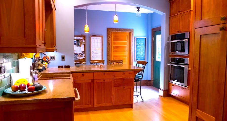 We hope you will make yourself some tea in our fully renovated kitchen. . . cozy but elegant. We love chatting with our guests!