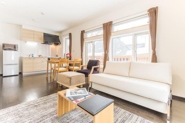 Mori Apartments 1 bdr apartment 1D in Hirafu