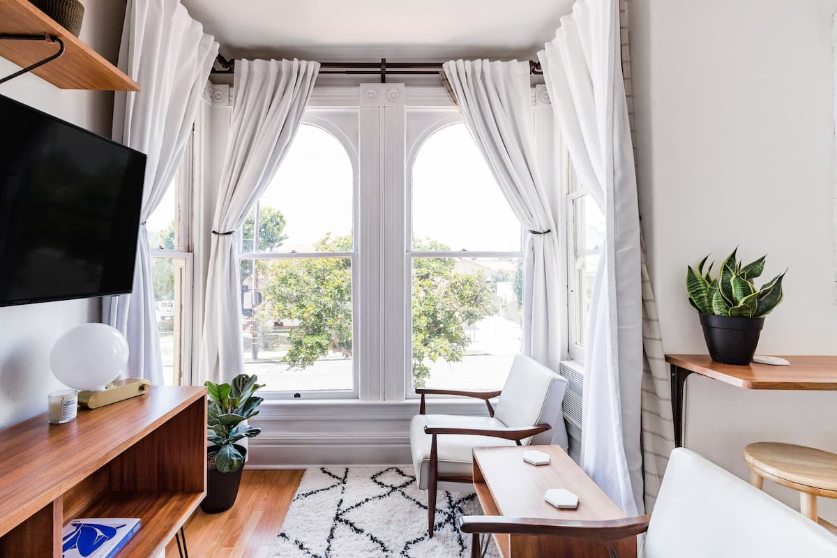 Modernized Studio With a View in a Historic Landmark House
