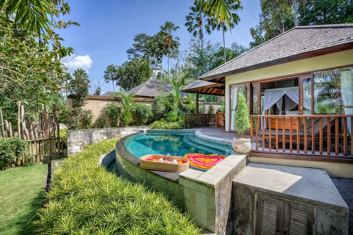 1 Bedroom Villa with pool and jungle valley view 3