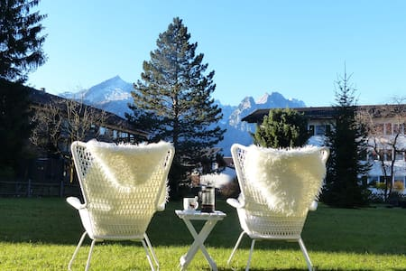 Traumblick in TOP-LOCATION & Garten - Garmisch-Partenkirchen - Apartament