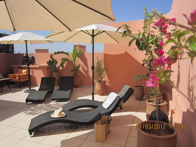 Majorelle , appartement terrasse privée piscine