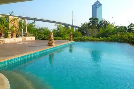 "Nice 3BR Apt, River Front view, near ""Asiatique"" - Bangkok - Wohnung"