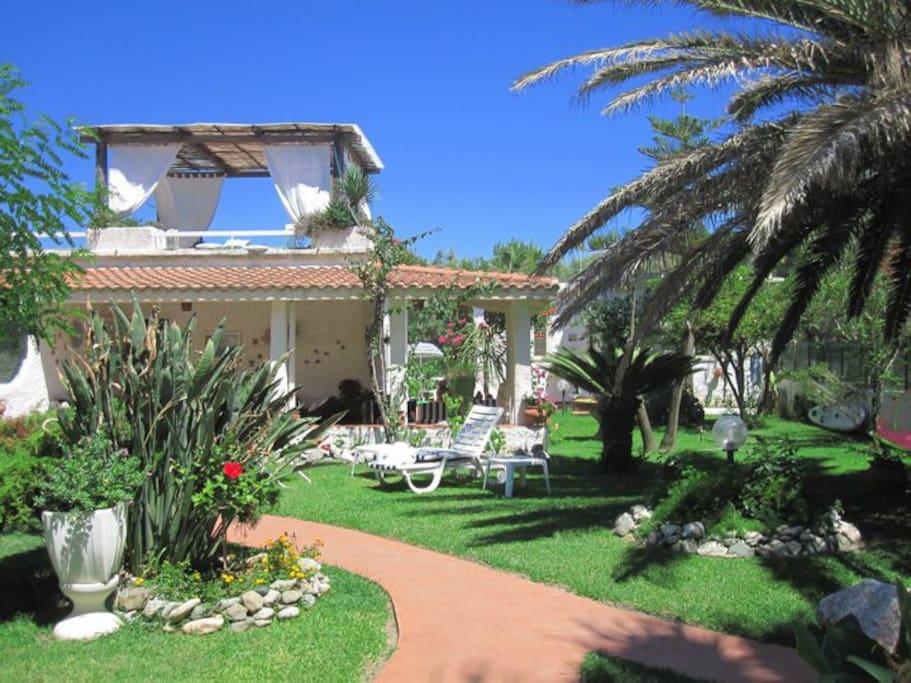 Mediterranean villa on the beach villas for rent in for Villas mediterranean