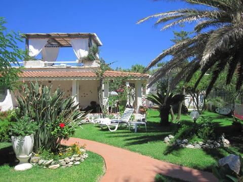 Mediterranean villa on the beach