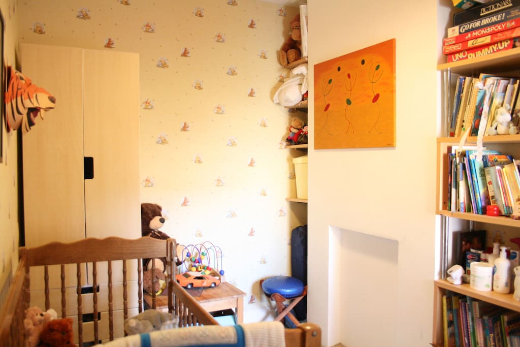Nursery with Cot (and loads of books)