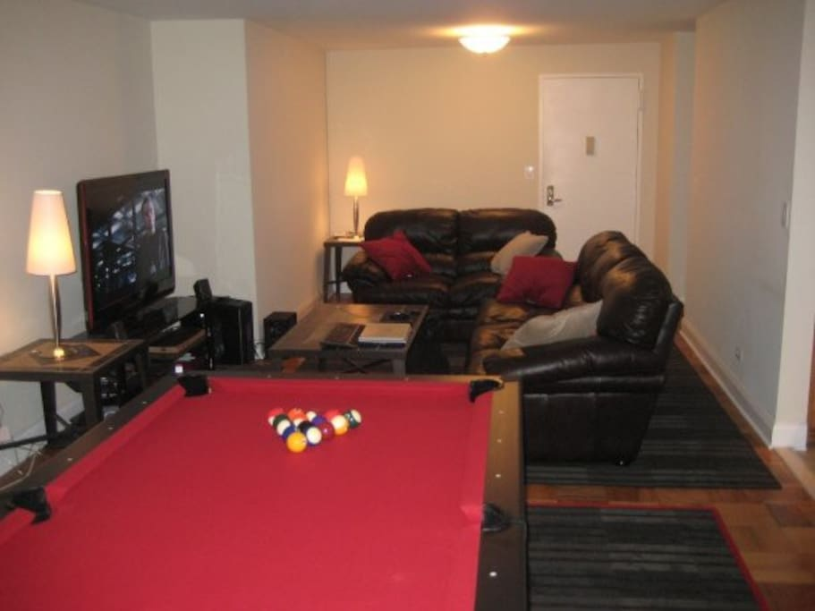 Pool anyone?  Sleeping area is the couch!
