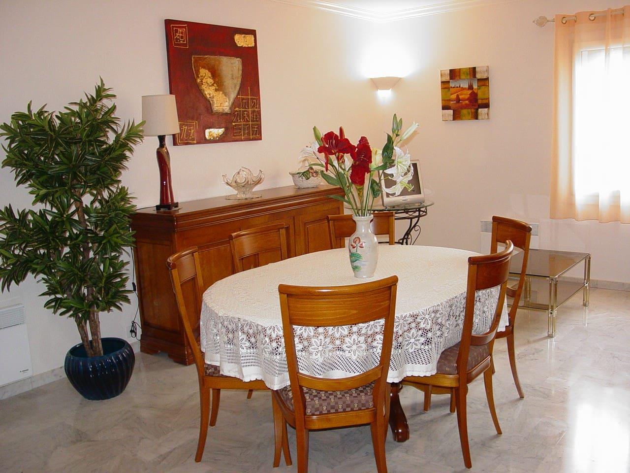 Salon et salle à manger spacieux