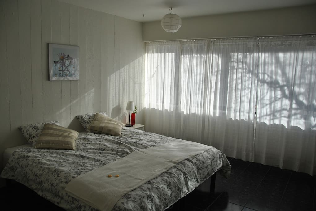 Spacious bedroom - beds can be separated into two single beds