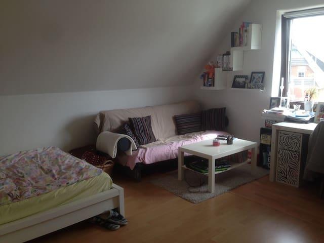 Großes Zimmer mit schöner Sofaecke - Heide - Leilighet