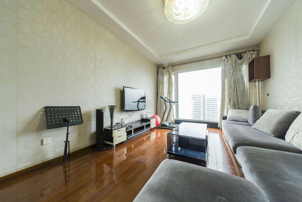 拥有无敌江景的客厅 / Living Room with Super View