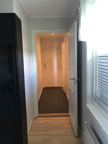 Guest area with separate private bathroom and bedroom.