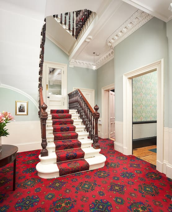 Welcoming stately entrance hallway