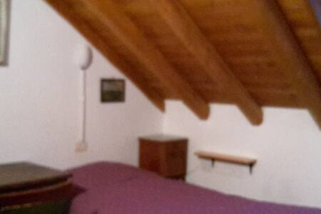 Lovely attic under the roof - Campertogno - Apartamento