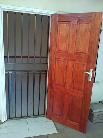 Private entrance at side of house.