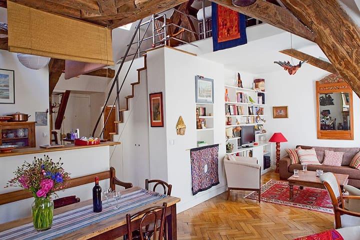 Latin Quarter 2br Rooftop Duplex - Paris - Apartemen