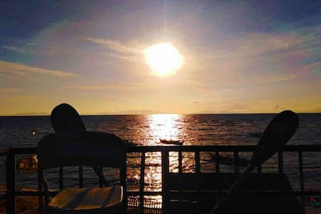 Beach front Bed Breakfast with AC near manuel uy