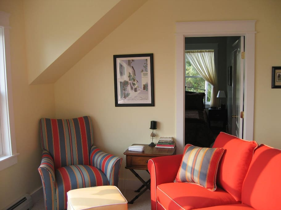 Living Room with views of Casco Bay